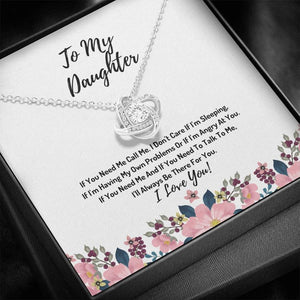 To My Daughter Necklace -  I'll Always Be There For You, Birthday Gift For Daughter From Dad, Mom