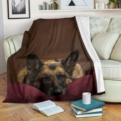 German Shepherd Sleeping Blanket