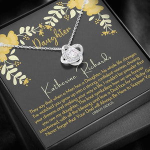 To My Daughter Necklace - Your Dad Will Always Be Hero To Support You, Birthday Gift For Daughter From Dad