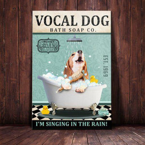 Beagle Dog Bath Soap Company Canvas