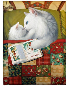 Cats full of love in Xmas blanket