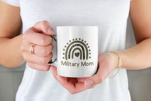 Mothers day White Mug - Gift for veteran mom from daughter and son - military mom mug