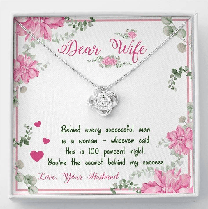 Knot Pendant - Dear Wife You Are The Secret Behind My Success - Valentine gift for her - Family Presents - Great Blanket, Canvas, Clothe, Gifts For Family