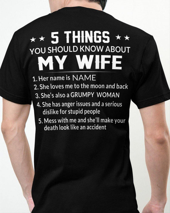 5 THINGS about MY WIFE T-shirt - Gifts For Wife| Gifts For Lover | Valentine Gifts | Anniversary Gifts | Gifts For Woman