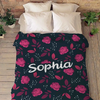 "Personalized blanket - Valentine gift for her - ""To My Girlfriend"" Custom Name Blanket"