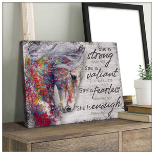 She is Strong Horse Wall Art Decor - Anniversary Birthday Christmas Housewarming Gift Home Decor