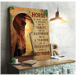 A Best Friend Horse Canvas Wall Art Decor - Anniversary Birthday Christmas Housewarming Gift Home Decor