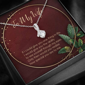 Alluring Beauty Necklace Gift - Valentine Gift For Wife - How Special You Are To Me - Wife Anniversary Gift, Wife Necklace, Wife Gift
