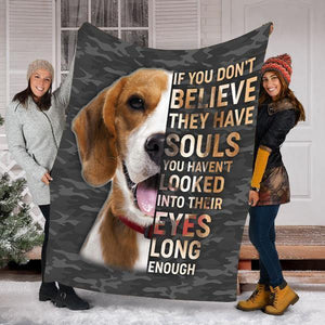 BLANKET BEAGLE PUPPIES DOG BLANKET 4 - FLEECE BLANKET