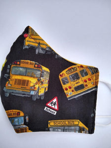 School Bus Cloth Mask - Back to school Cloth Mask - Family Presents - Great Blanket, Canvas, Clothe, Gifts For Family