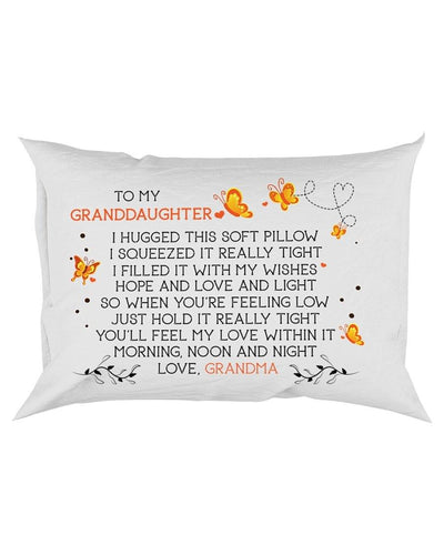 Canvas Pillow - butterfly HOPE AND LOVE - LOVELY GIFT FOR GRANDDAUGHTER