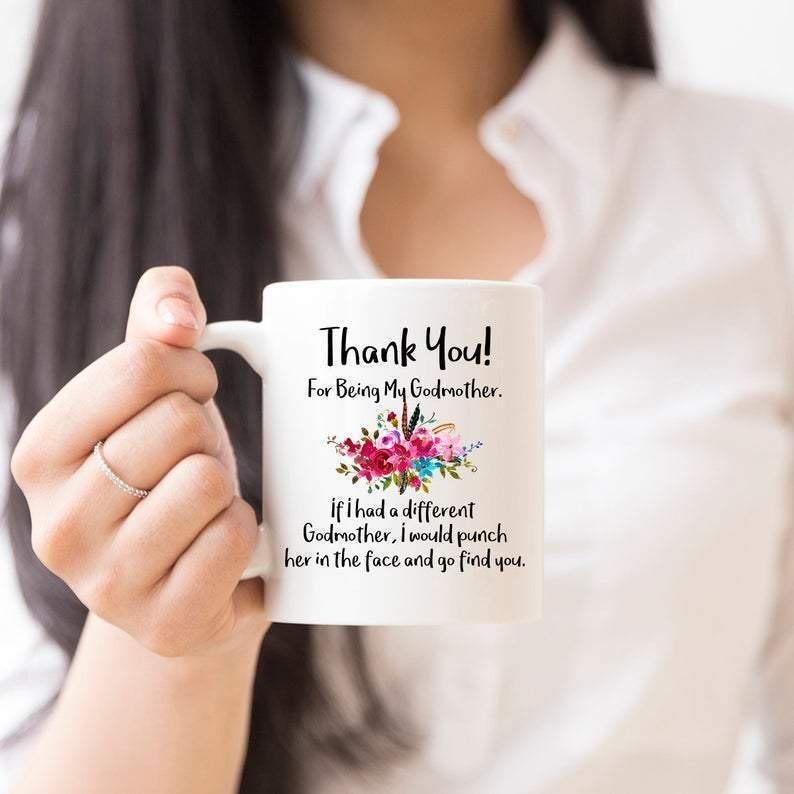 Godmother Mug Gift, Family Mug, Mug for Godmother, Gift Ideas , Coffee Mug, Godmother Gift from God daughter, Thank You Mug