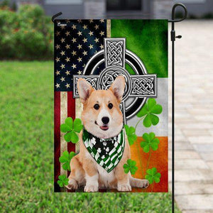 Corgi Irish Cross Flag - Family Presents - Great Blanket, Canvas, Clothe, Gifts For Family