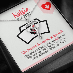 Personalized Gift For Nurse, Graduation Gift For Nurse, New Nurse Gift, RN Gift, Nursing Graduation Gift, Nurse Necklace, Gift For Daughter