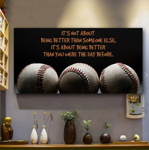 CUSTOMIZABLE SPORT BASEBALL CANVAS - IT'S NOT ABOUT BEING - CHRISTMAS, BIRTHDAY GIFT