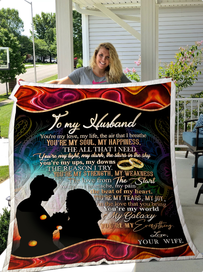 Blanket - Gift to my husband - Anniversary gift from wife - Birthday gift - You are my my life the air that I breath