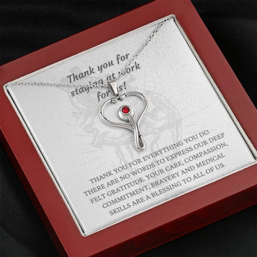 Stethoscope Necklace, Nurse Necklace, Nurse Gift, Recognition Gift For Medical Workers And Frontline Warriors