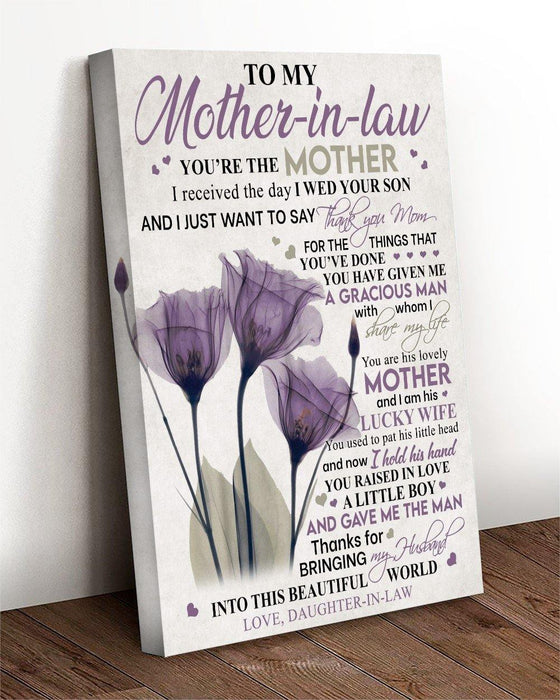Happy mother's day - Canvas gift for mother in law - I just want to say thank you mom