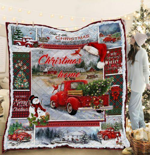 Home For Christmas Blanket- Gift for Christmas, Birthday