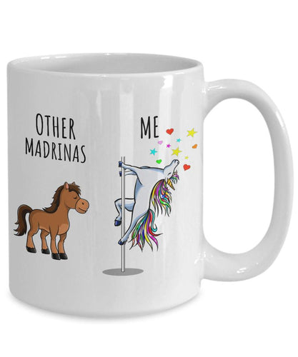 Mothers day mug - Gift for Madrina From children - Unicorn Madrina Mug Other Me White Mug