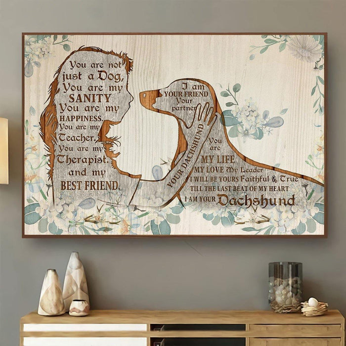 Dachshund I Am Your Friend Horizontal Canvas Prints