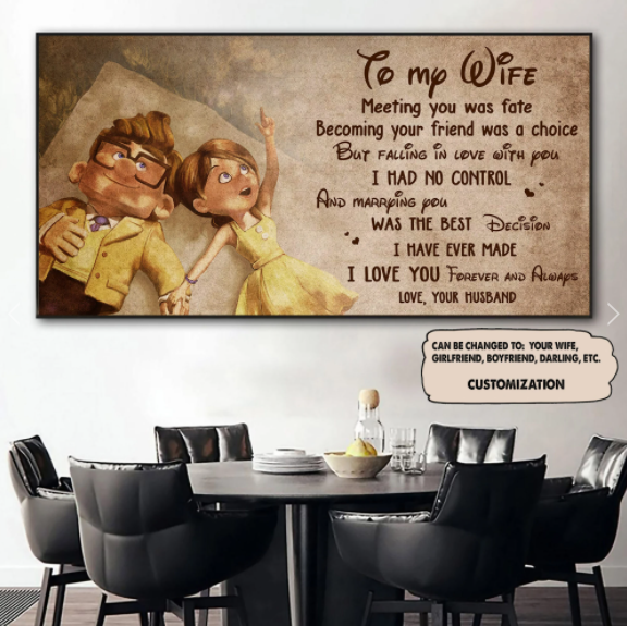 PERSONALIZED CANVAS - HUSBAND TO WIFE - MEETING YOU WAS FATE - CHRISTMAS, BIRTHDAY GIFT