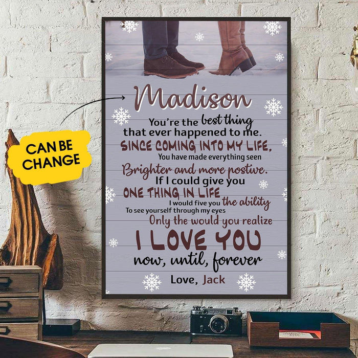 Personalized Wall Art Print, Valentine Day Gift Ideas For Him Her Men Women Boyfriend Girlfriend Husband Wife Couple - Custom You Are The Best Thing