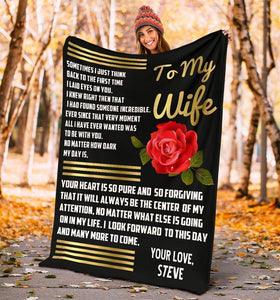 Personalized Fleece Blanket For Wife - Gift for anniversary, birthday - Your heart is so pure and forgiving