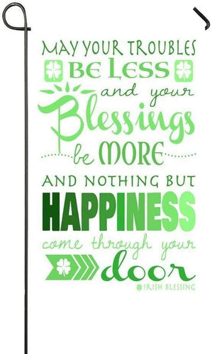 Irish Blessing Home Garden Flag, Irish Blessing St.Patrick's Day Outdoor Garden Flags, Nothing But Happiness Garden Flag House Flag - Family Presents - Great Blanket, Canvas, Clothe, Gifts For Family