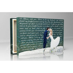 Anniversary Gift for him - Canvas Wedding Lyrics - Canvas