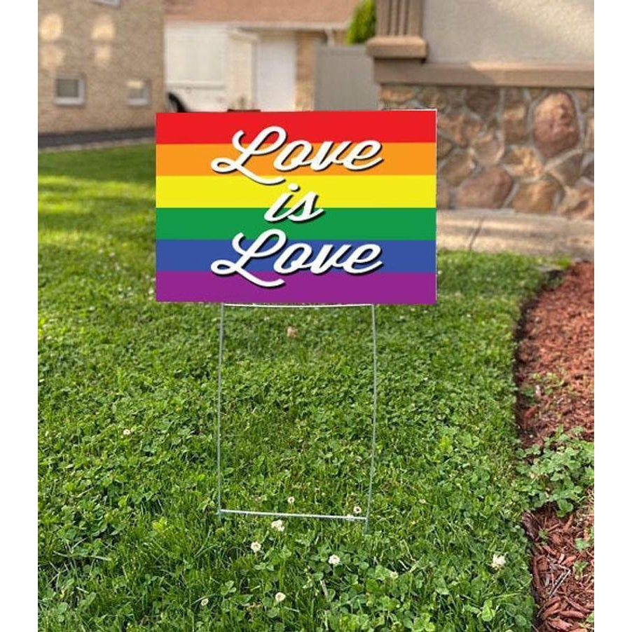 Love is Love LGBTQ Pride Yard Sign - Yard Sign