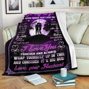 Blanket to my wife - Thank you for walking inside me - Anniversary, birthday blanket