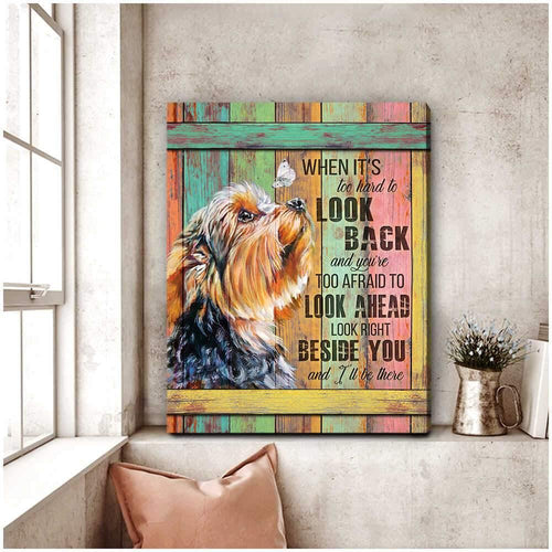Personalized Dog/Cat Canvas Wall Art - Animal Canvas - Custom Photo Right Beside You Dog Canvas Wall Art Decor - Family Presents - Great Blanket, Canvas, Clothe, Gifts For Family