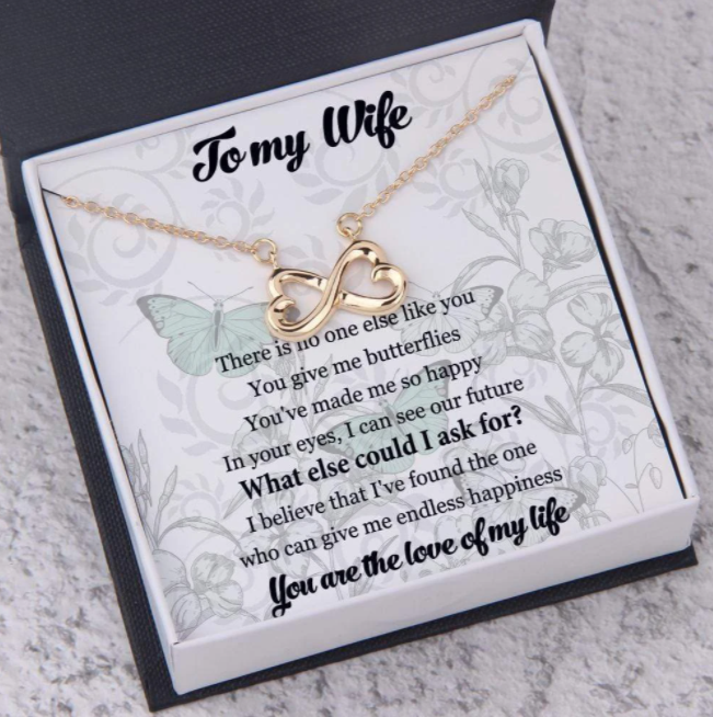 Infinity Hearts Necklace To My Love You are the love of my life