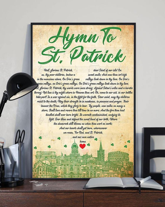 St Patrick Day Canvas Wall Art - Hymn To St Patrick Day