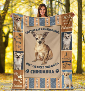 CHIHUAHUA BLANKET - MY HAPPY CHIHUAHUA - CHRISTMAS GIFT - Family Presents - Great Blanket, Canvas, Clothe, Gifts For Family