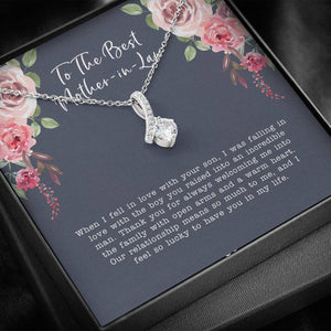 To The Best Mother in Law, Mother in Law Gift, When I Fell In Love With Your Son - Alluring Beauty Necklace, Mother's Day Gift, Mom Jewelry - Family Presents - Great Blanket, Canvas, Clothe, Gifts For Family