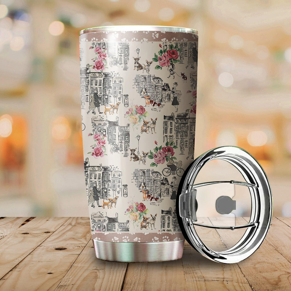 Chihuahua Stainless Steel Insulated Tumbler Cups