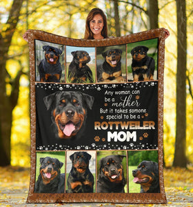 ROTTWEILER BLANKET - CHRISTMAS GIFT - TO BE A ROTTWEILER MOM - Family Presents - Great Blanket, Canvas, Clothe, Gifts For Family