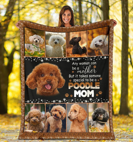 POODLE BLANKET - CHRISTMAS GIFT - TO BE A POODLE MOM - Family Presents - Great Blanket, Canvas, Clothe, Gifts For Family
