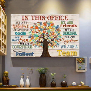 Office Canvas Wall Art - Social Worker We Are A Team Matte Canvas