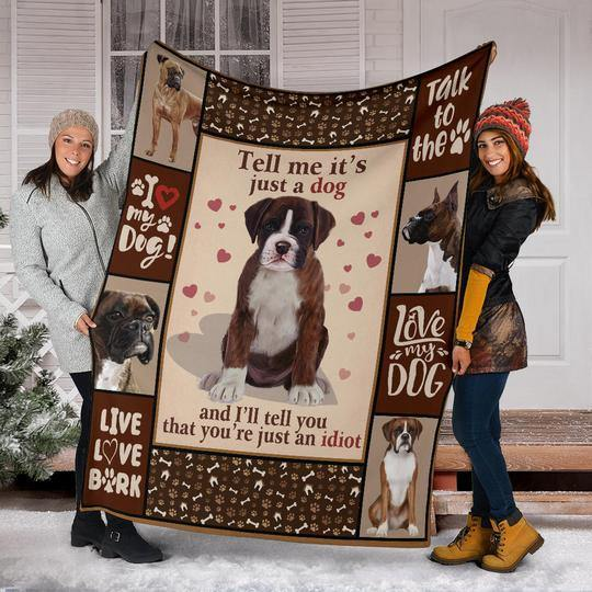 BOXER BLANKET - CHRISTMAS GIFT - YOU'RE JUST AN IDIOT