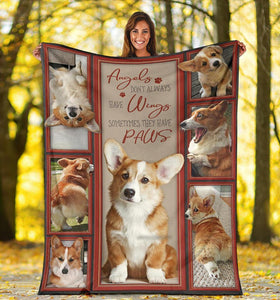 CORGI BLANKET  - CHRISTMAS GIFT - SOMETIMES THEY HAVE PAWS - Family Presents - Great Blanket, Canvas, Clothe, Gifts For Family