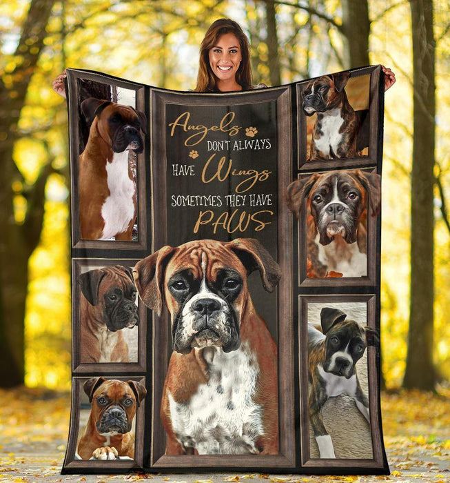 BOXER BLANKET - CHRISTMAS GIFT - SOMETIMES THEY HAVE PAWS