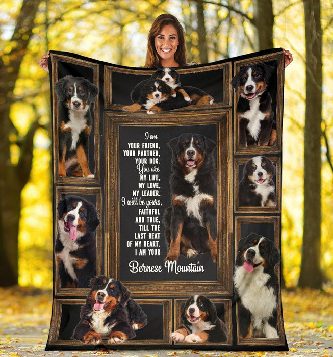 BERNESE MOUNTAIN BLANKET - CHRISTMAS GIFT - I WILL BE YOURS