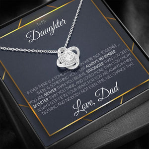 Father Daughter Necklace, To My Daughter, Birthday Gift For Daughter From Dad, Loved More Than You Know