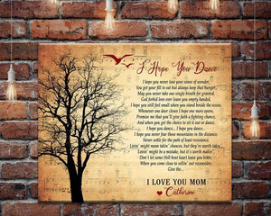 Personalized Song Lyrics Canvas, I Hope You Dance Song Lyrics Wall Art, Custom Songs On Canvas, Mother's Day Gifts