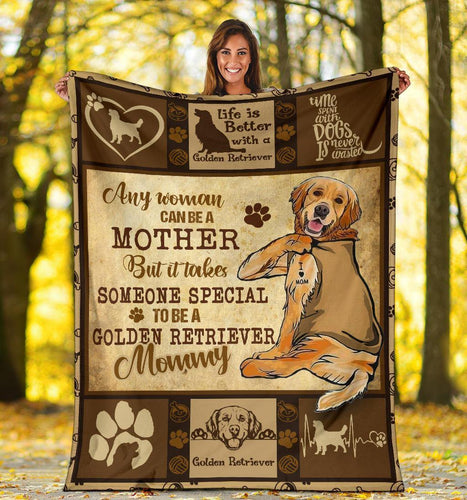GOLDEN RETRIEVER BLANKET - CHRISTMAS GIFT - TO BE A GOLDEN RETRIEVER MOMMY