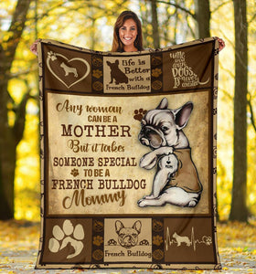 Mother's Day Gifts,   FRENCH BULLDOG BLANKET - CHRISTMAS GIFT - TO BE A FRENCH BULLDOG MOMMY - Family Presents - Great Blanket, Canvas, Clothe, Gifts For Family