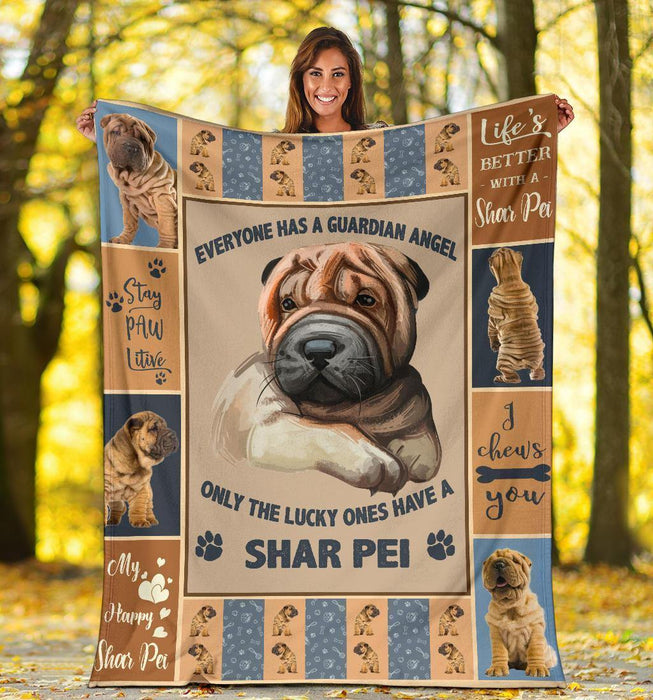 SHAR PEI BLANKET - CHRISTMAS GIFT - MY HAPPY SHAR PEI